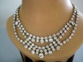 1940's Diamante Necklace - Bib and Swags! (SOLD)
